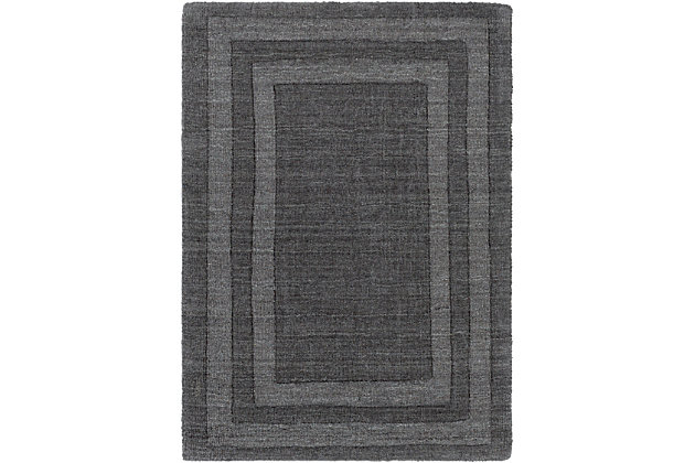 Hand Tufted Sorrento 2' x 3' Doormat, Charcoal, large