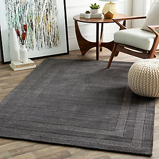 """Hand Tufted Sorrento 5' x 7'6"""" Area Rug, Charcoal, large"""