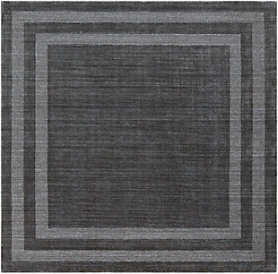 Hand Tufted Sorrento 8' Square Area Rug, Charcoal, large
