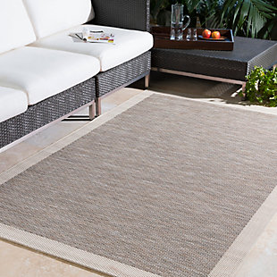 "Machine Woven Santa Cruz 5'3"" x 7'7"" Area Rug, Taupe/Cream, rollover"
