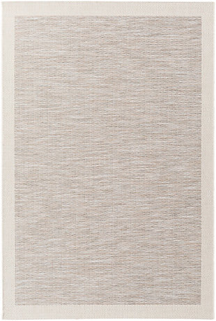 "Machine Woven Santa Cruz 5'3"" x 7'7"" Area Rug, Taupe/Cream, large"