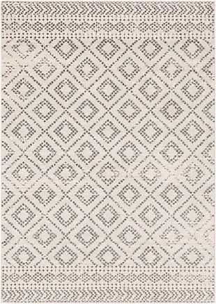 "Machine Woven Sunderland 5'3"" x 7'3"" Area Rug, Two-tone Gray/White, large"