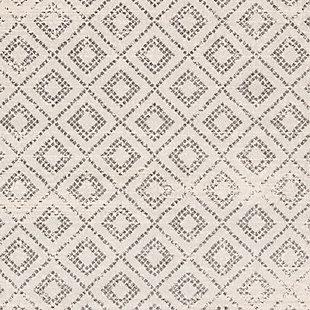 "Machine Woven Sunderland 5'3"" x 7'3"" Area Rug, Two-tone Gray/White, large"
