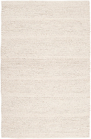 Hand Woven Tahoe 5' x 8' Area Rug, Ivory/Charcoal, large