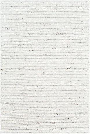 """Hand Woven Tundra 5' x 7'6"""" Area Rug, White/Dark Brown, large"""