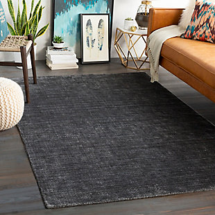"Hand Knotted Torino 5' x 7'6"" Area Rug, Charcoal/Light Gray, rollover"