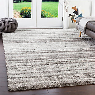 "Machine Woven Wilder 5'3"" x 7'7"" Area Rug, Taupe/White, rollover"