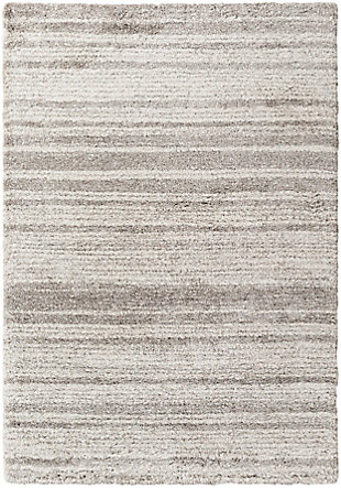 """Machine Woven Wilder 5'3"""" X 7'7"""" Area Rug, Taupe/White, large"""