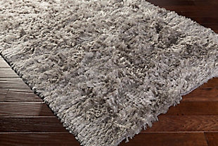 Hand Woven Whisper 5' x 8' Area Rug, Light Gray, large
