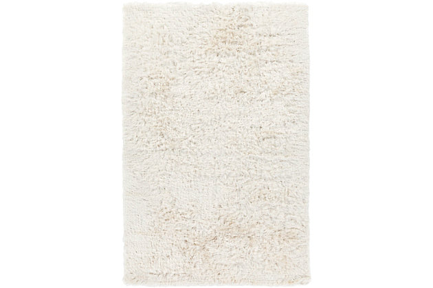 Hand Woven Whisper 5' x 8' Area Rug, Cream, large