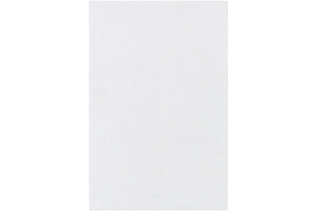 Hand Loomed Wilkinson 2' x 3' Doormat, White, large