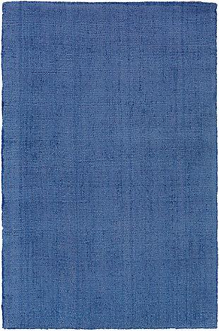 Hand Loomed Wilkinson 2' x 3' Doormat, Dark Blue, large