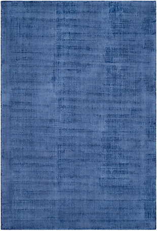 "Hand Loomed Wilkinson 5' x 7'6"" Area Rug, Dark Blue, large"