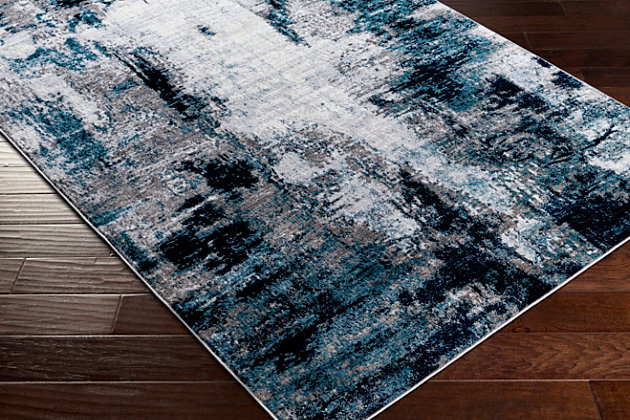 "Machine Woven Wanderlust 5'3"" x 7'3"" Area Rug, Multi, large"