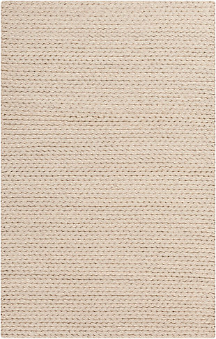 "Hand Woven Yukon 5' x 7'6"" Area Rug, Beige, rollover"