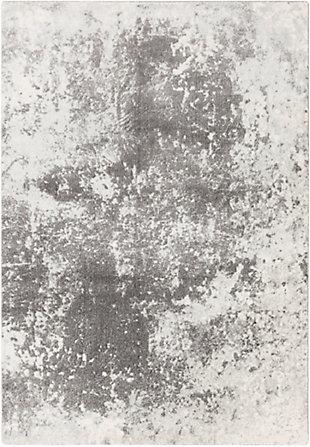 "Surya Aberdine 5'2"" x 7'6"" Area Rug, Gray/Charcoal/Ivory, rollover"