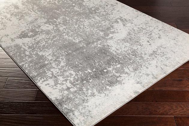 """Surya Aberdine 5'2"""" x 7'6"""" Area Rug, Gray/Charcoal/Ivory, large"""
