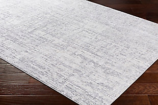 """Surya Aisha 5'3"""" x 7'3"""" Area Rug, Light Gray/Gray/White, large"""