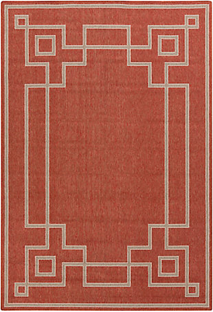 "Surya Alfresco 5'3"" x 7'7"" Area Rug, Rust/Camel/Cream, rollover"