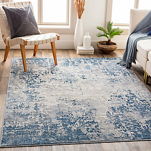 "Surya Alpine 5'3"" x 7'3"" Area Rug, Denim, rollover"