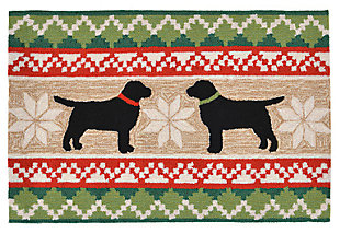 Home Accents 2' x 3' Christmas Labs Indoor/Outdoor Rug, , large
