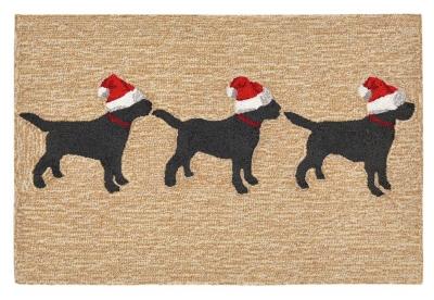 Home Accents 2' x 3' Santa's Helpers Indoor/Outdoor Rug, , large