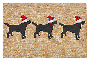 Home Accents 2' x 3' Santa's Helpers Indoor/Outdoor Rug, , large