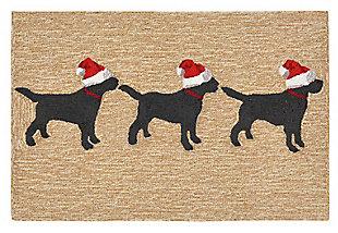 Home Accents 2' x 3' Santa's Helpers Indoor/Outdoor Rug, , rollover