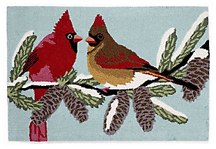 Home Accents 2' x 3' Winter Song Indoor/Outdoor Rug, , large