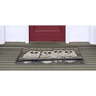 Home Accents 2' x 3' Hoo Hoo Indoor/Outdoor Rug, , large