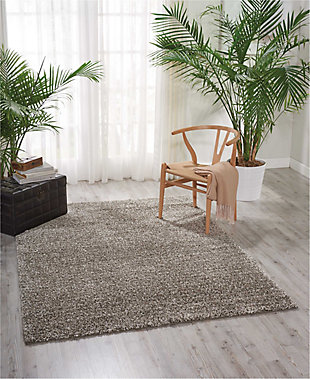 Power Loomed Brisbane Stone 5' x 7' Area Rug, Stone, rollover