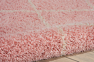 Power Loomed Brisbane Blush 5' x 7' Area Rug, Blush, large
