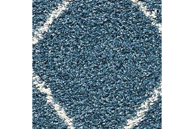 Power Loomed Brisbane Slate Blue 5' x 7' Area Rug, Slate Blue, large