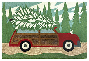 Home Accents 2' x 3' Let's Decorate Indoor/Outdoor Rug, , large