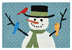 Home Accents 2' x 3' Jack Frost Indoor/Outdoor Rug, , large