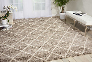 Power Loomed Brisbane Stone 8' x 10' Area Rug, Stone, rollover