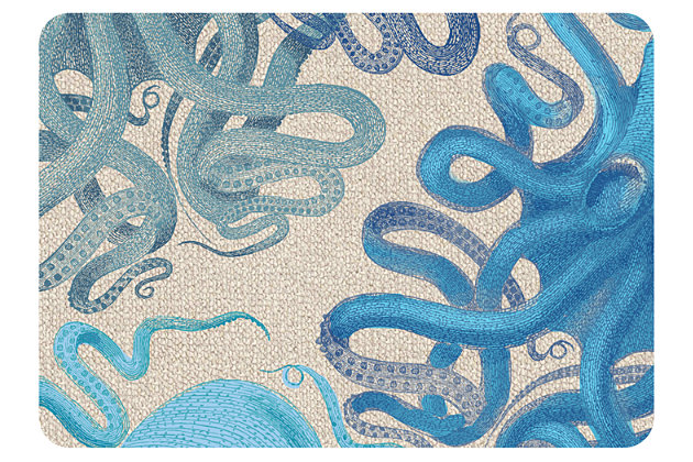 "Home Accents Premium Comfort 1'10"" x 2'7"" Octopus Mat, , large"