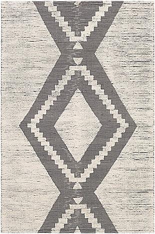 "Surya Indoor/Outdoor 8'10"" x 12' Area Rug, Charcoal/Ivory, large"