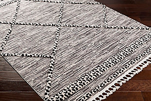 "Surya 5'3"" x 7'3"" Area Rug, Black/White, rollover"