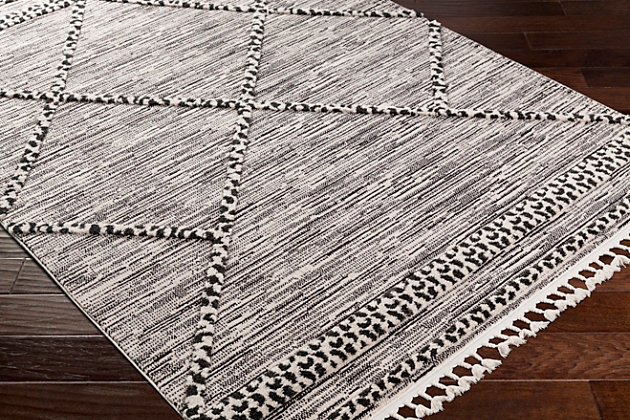 "Surya 5'3"" x 7'3"" Area Rug, Black/White, large"
