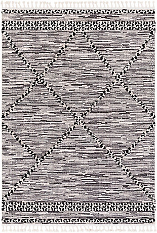 "Surya 5'3"" x 7'3"" Area Rug, Black/White, large"