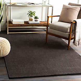 "Surya 5' x 7'6"" Area Rug, Charcoal, rollover"