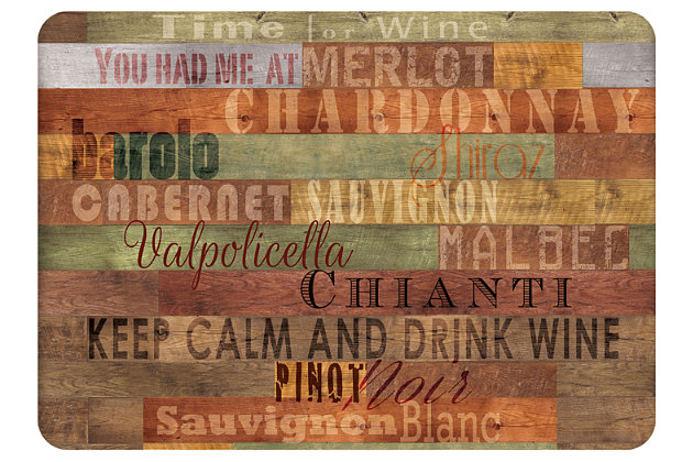 "Home Accents Premium Comfort 1'10"" x 2'7"" Wooden Wines Mat, , large"