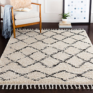 "Surya 5'3"" x 7'3"" Area Rug, Charcoal, rollover"