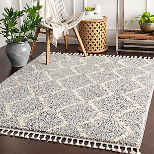 "Surya 5'3"" x 7'3"" Area Rug, Light Gray, rollover"