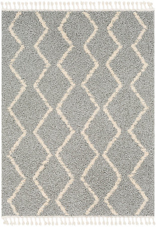 "Surya 5'3"" x 7'3"" Area Rug, Light Gray, large"
