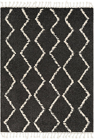 "Surya 5'3"" x 7'3"" Area Rug, Charcoal/Beige, large"