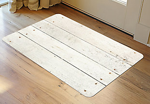 "Home Accents FoFlor 1'11"" x 3' Whitewash Accent Mat, , rollover"