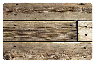 "Home Accents FoFlor 1'11"" x 3' Rustic Wood Accent Mat, , large"