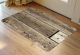 "Home Accents FoFlor 1'11"" x 3' Rustic Wood Accent Mat, , rollover"